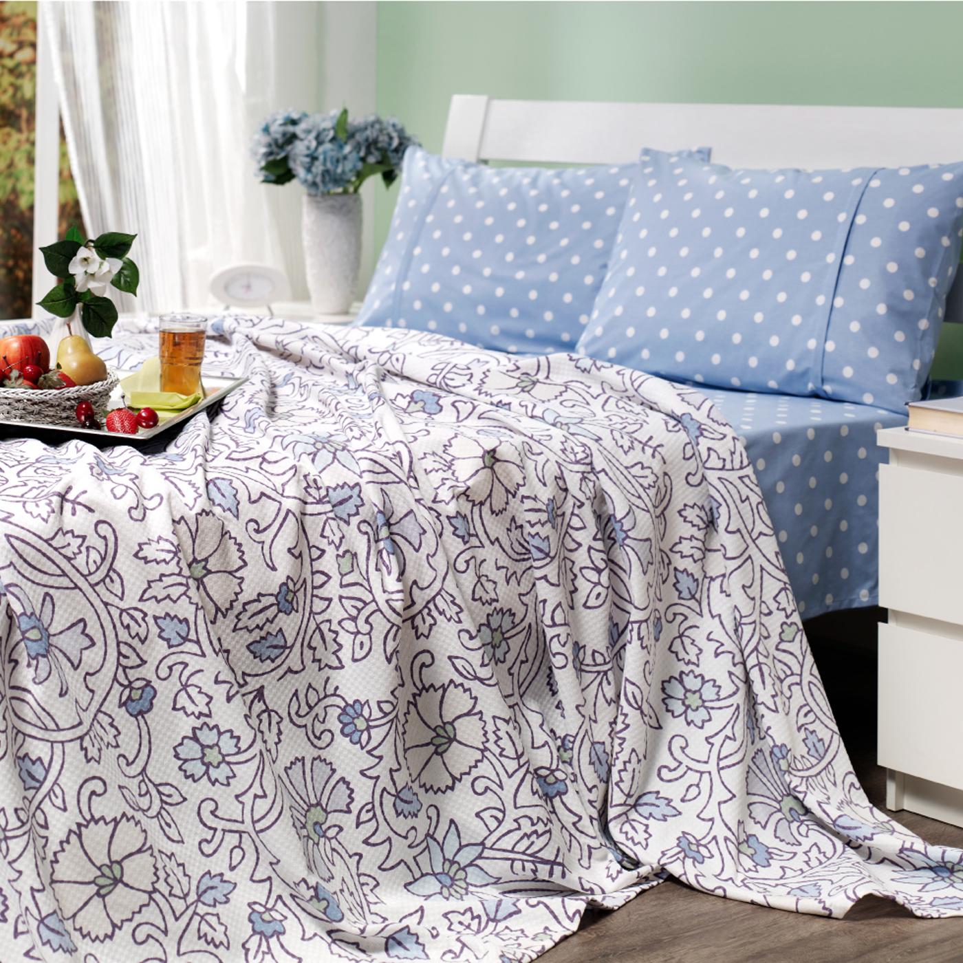Купить Комплект постельного белья Pansy Blue Euro, inmyroom, Турция