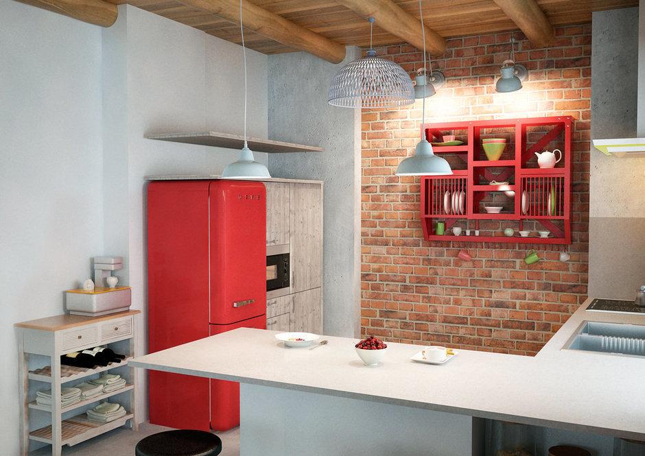 Фотография: Кухня и столовая в стиле Лофт, Скандинавский, Квартира, Дома и квартиры, IKEA, Проект недели – фото на InMyRoom.ru