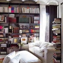 Фотография: Офис в стиле Скандинавский, Хранение, Стиль жизни, Советы, Мансарда, Подоконник – фото на InMyRoom.ru