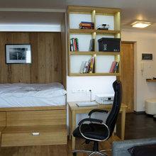 Фото из портфолио Интерьер однокомнатной квартиры общей площадью 38 кв. м – фотографии дизайна интерьеров на INMYROOM