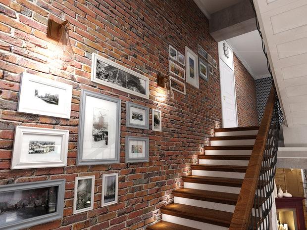 Фото из портфолио Коттедж «Прогулка» в классическом американском стиле с элементами лофта и востока – фотографии дизайна интерьеров на INMYROOM