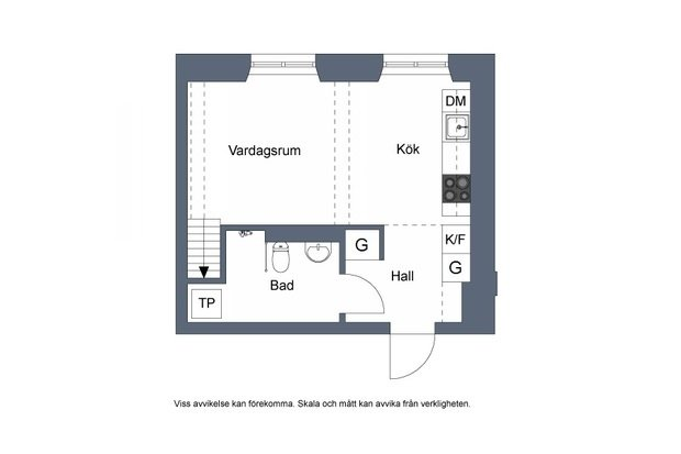 Фотография: Планировки в стиле , Лофт, Скандинавский, Декор интерьера, Квартира, Студия, Стокгольм, 40-60 метров – фото на InMyRoom.ru