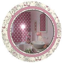 "Зеркало розовое ""Винтажное"" с рисунком"