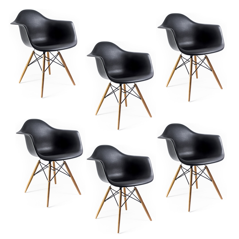 Купить Набор из шести стульев на деревянных ножках, inmyroom, Китай