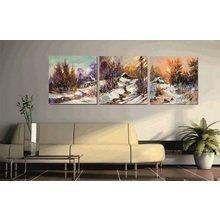 Декоративная картина на холсте: Зимний вечер