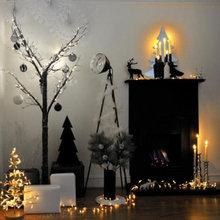 Фотография: Декор в стиле Скандинавский, Декор интерьера, Квартира, Праздник, Новый Год, Гирлянда – фото на InMyRoom.ru