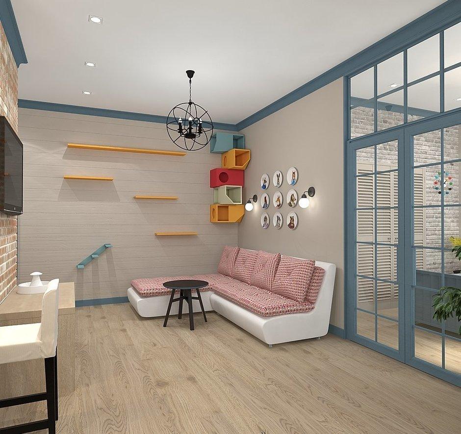 Фотография: Гостиная в стиле Скандинавский, Квартира, Проект недели, Zi-Design Interiors – фото на InMyRoom.ru