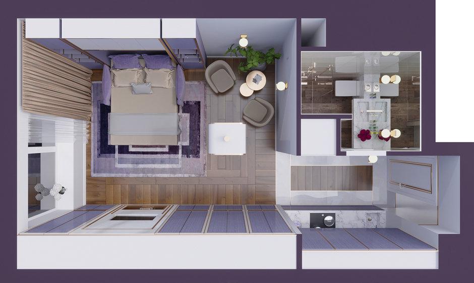 Планировка квартиры в ЖК «Символ», дизайн Виктории Киорсак