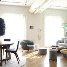 Фото из портфолио Гостиная – это визитная карточка дома – фотографии дизайна интерьеров на InMyRoom.ru