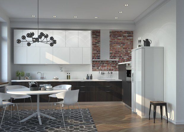 Фотография:  в стиле , Кухня и столовая, Перепланировка, Mr.Doors – фото на InMyRoom.ru