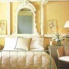 Фотография: Спальня в стиле Кантри, Советы, Зеленый, Желтый, Синий, Серый, Голубой – фото на InMyRoom.ru
