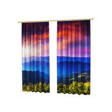 Стильные шторы с фотопечатью: Синева