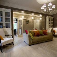 Фотография: Гостиная в стиле Кантри, Квартира, Мебель и свет, Дома и квартиры, Подсветка – фото на InMyRoom.ru
