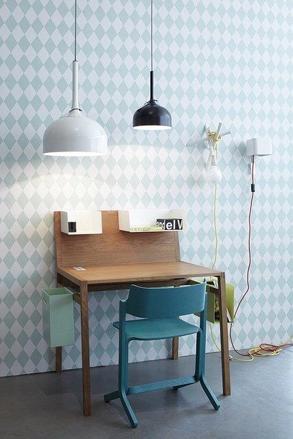 Фотография: Мебель и свет в стиле Лофт, Современный, Детская, Декор интерьера, Интерьер комнат, Обои – фото на InMyRoom.ru