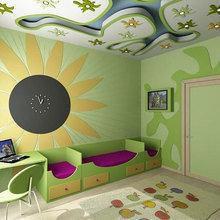 Фотография: Детская в стиле Современный, Эклектика, Интерьер комнат, Lowell, Часы – фото на InMyRoom.ru