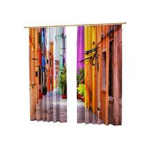 Дизайнерские фотошторы: Цветной переулок