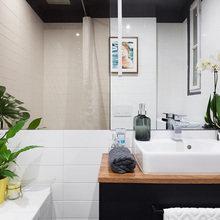 Фотография: Ванная в стиле Скандинавский, Малогабаритная квартира, Квартира – фото на InMyRoom.ru