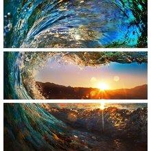 """Триптих с фотопечатью """"Морской закат"""""""