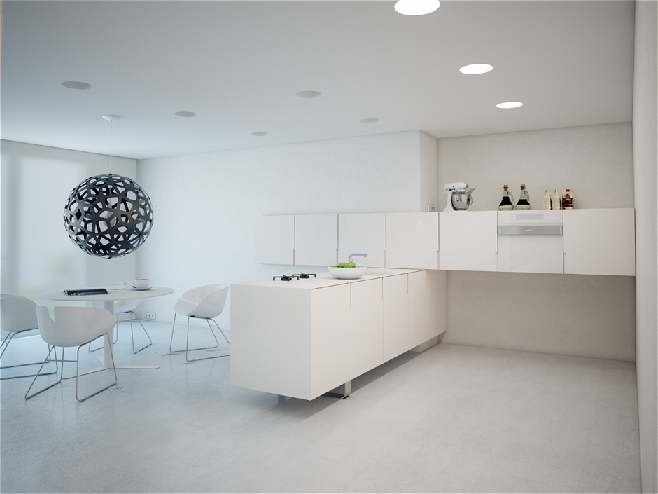 Фотография: Кухня и столовая в стиле Современный, Хай-тек, Квартира, Цвет в интерьере, Дома и квартиры, Белый – фото на InMyRoom.ru