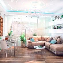 Фотография: Гостиная в стиле Современный, Декор интерьера, Квартира, Дома и квартиры, Проект недели, SLV – фото на InMyRoom.ru