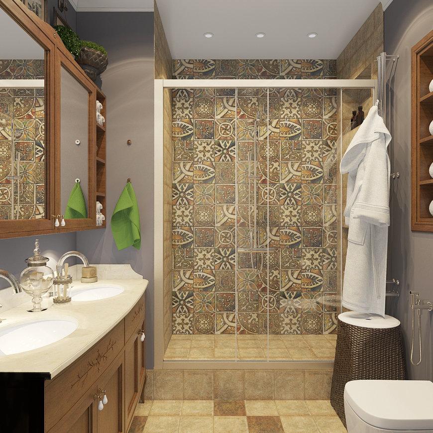Фотография: Ванная в стиле Восточный, Лофт, Квартира, Дома и квартиры – фото на InMyRoom.ru