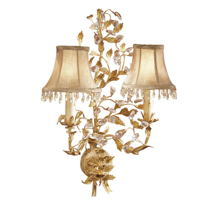 Купить Бра Schuller Verdi с абажурами бежевого цвета со стеклянными подвесками, inmyroom, Испания