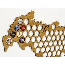 """Карта для пивных крышек """"Beer cap map"""""""