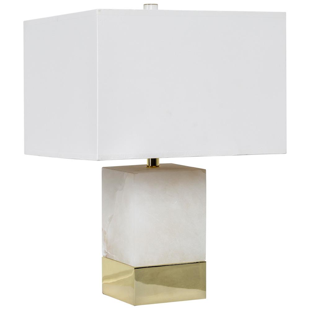 Купить Настольная лампа каррара с белым абажуром, inmyroom, Россия