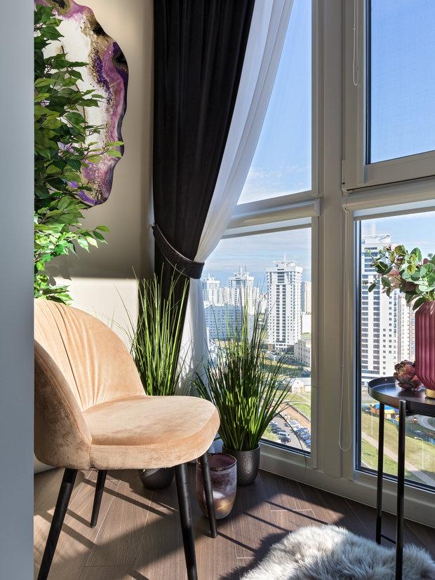 Фотография: Балкон в стиле Современный, Квартира, Проект недели, Минск, 2 комнаты, 60-90 метров, Ольга Купчинская – фото на INMYROOM