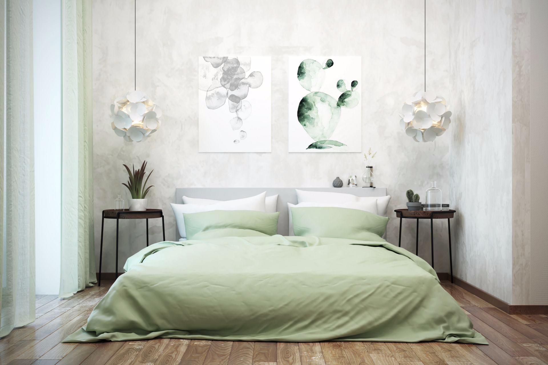 Комплект постельного белья евро с простыней на резинке 160х200 фисташковый