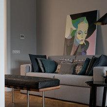 Фотография: Гостиная в стиле Современный, Эклектика, Квартира, Декор, Проект недели – фото на InMyRoom.ru