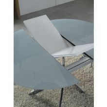 Круглый раскладной обеденный стол