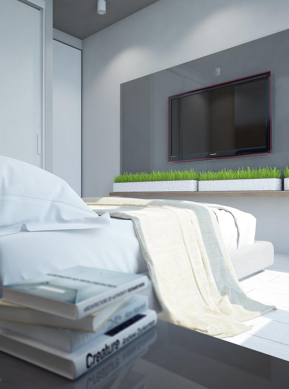 Фотография:  в стиле , Современный, Квартира, Белый, Проект недели, Зеленый, Коричневый, ИКЕА, Павел Алексеев, современный интерьер, идеи для детской, Delta Light, Одинцово, экостиль в интерьере, Tikkurila, Московская область, кухня-гостиная, кухня-гостиная со входами в спальни, система хранения в интерьере, обустройство отдельной гардеробной, квартира со свободной планировкой, свободная планировка, квартира в современном стиле, кухня-гостиная дизайн, современный стиль в интерьере, гардеробная в квартире, системы хранения для коридора, современные сценарии освещения, организация хранения, дизайн квартиры со свободной планировкой, Как оформить кухню в современном стиле, как оформить рабочее место в спальне, Stua, Design Plus, организация системы хранения на кухне, детская для двух детей – фото на InMyRoom.ru