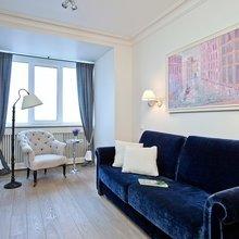 Фотография: Гостиная в стиле Классический, Балкон, Перепланировка, Переделка, Ремонт на практике – фото на InMyRoom.ru