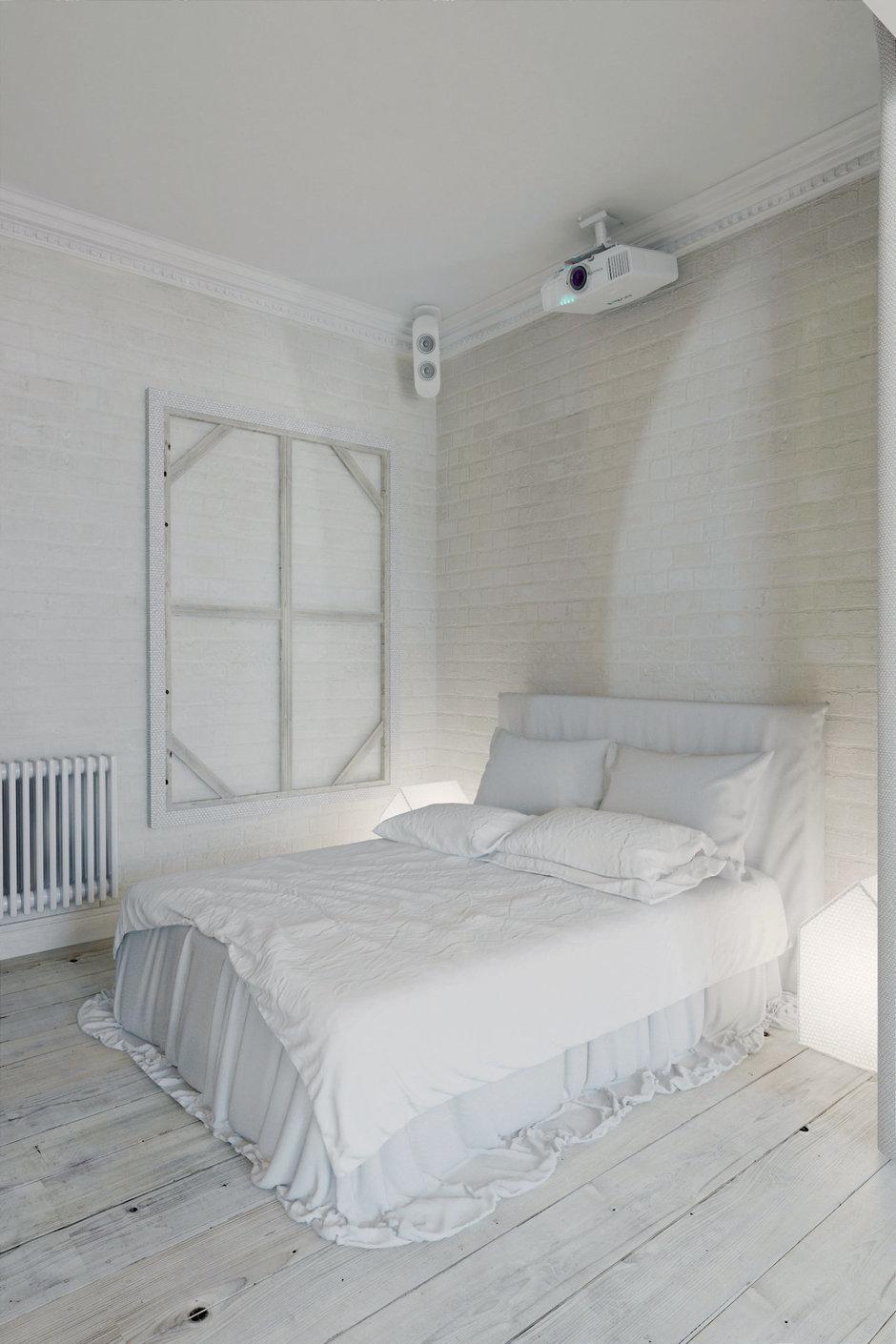 Фотография: Спальня в стиле Лофт, Квартира, Цвет в интерьере, Дома и квартиры, Белый – фото на InMyRoom.ru