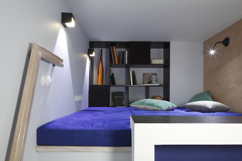 Фотография: Спальня в стиле Современный, Малогабаритная квартира, Квартира, Студия, Дома и квартиры, Проект недели – фото на InMyRoom.ru