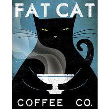 Картина (репродукция, постер): Fat Cat Coffee Co - Райан Фоулер