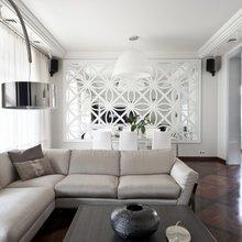 Фотография: Гостиная в стиле Современный, Декор интерьера, Декор дома, Зеркала – фото на InMyRoom.ru