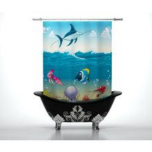 Шторы для ванной: Жизнь океана