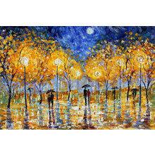 Картина (репродукция, постер): Night Moon Romance Rain Landscape - Кэрен Тарлтон