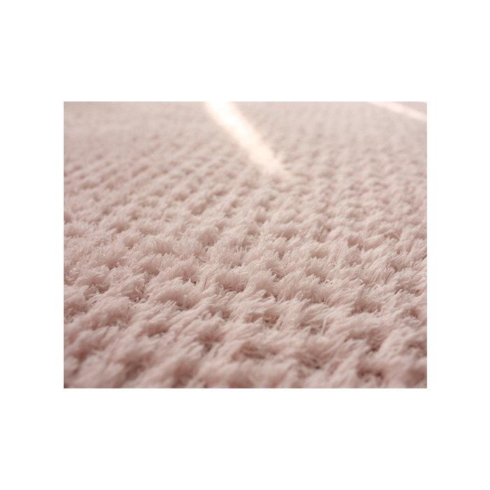 Светло розовый ковер вафельный,  короткий ворс