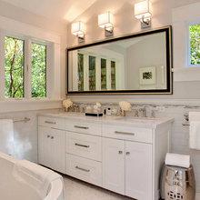 Фотография: Ванная в стиле Современный, Дом, Терраса, Дома и квартиры, Бассейн, Калифорния – фото на InMyRoom.ru