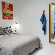 Фотография: Спальня в стиле Скандинавский, Эклектика, Малогабаритная квартира, Квартира – фото на InMyRoom.ru