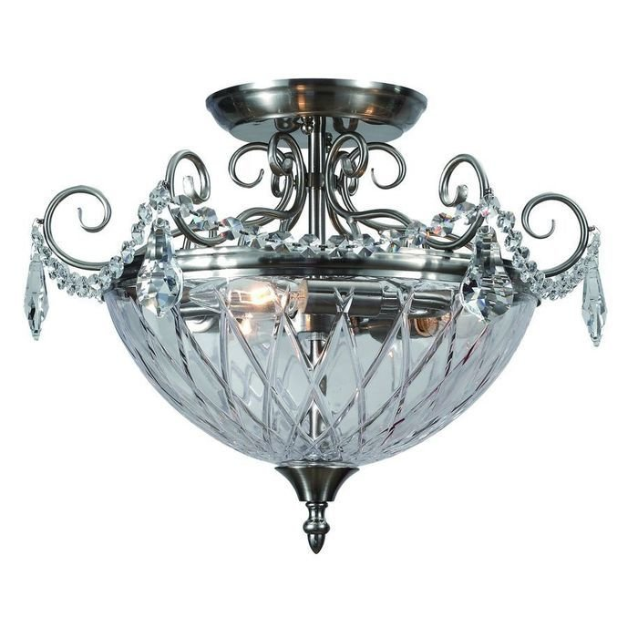 Потолочный светильник Divinare Reggia из металла и стекла