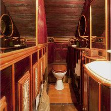 Фотография: Ванная в стиле Кантри, Дом, Дома и квартиры, Лестница – фото на InMyRoom.ru