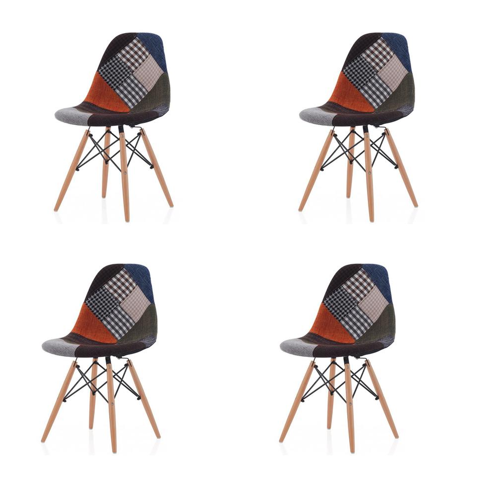 Купить Набор из 4-х стульев на деревянных ножках, inmyroom, Китай