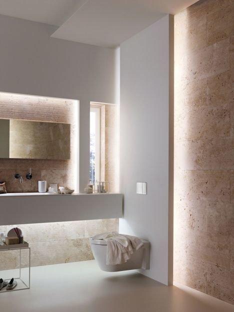 Фотография: Ванная в стиле Минимализм, Декор интерьера, Декор, Мебель и свет, освещение – фото на InMyRoom.ru