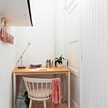 Фотография: Кабинет в стиле Скандинавский, Малогабаритная квартира, Квартира, Швеция, Дома и квартиры – фото на InMyRoom.ru