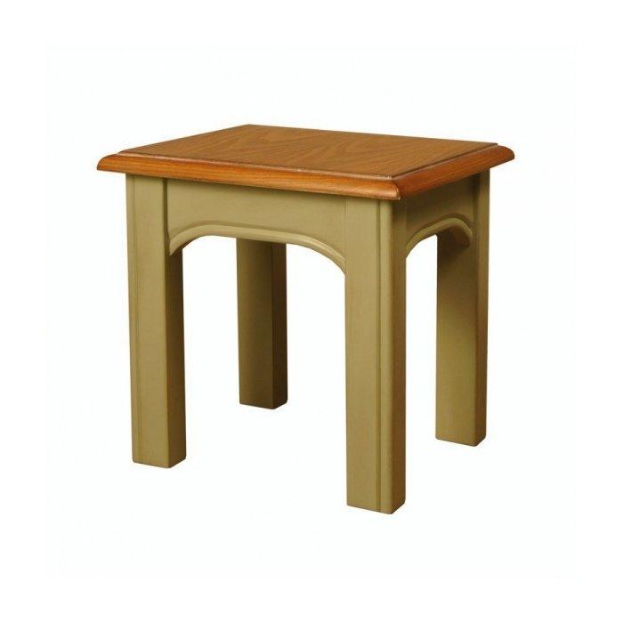 Консоль малая коричневая деревянная