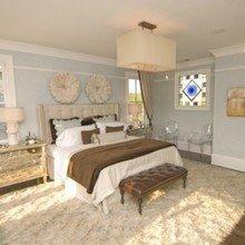 Фотография: Спальня в стиле Кантри, Эклектика, Декор интерьера, Декор, Декор дома, Цвет в интерьере, Стены – фото на InMyRoom.ru